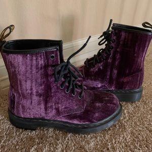 Purple Suede Dr. Martens